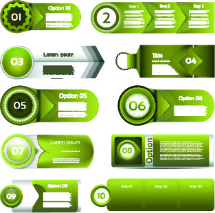 paper banners number vector
