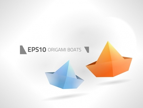 boating background origami decor modern 3d sketch