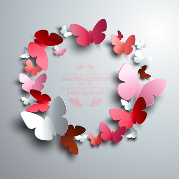 paper butterflies vector backgrounds