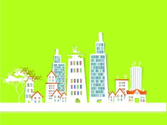 paper city vector illustration