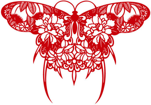 paper cut butterfly design vector