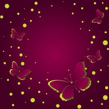 paper cut butterfly vector background set