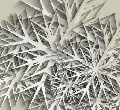 paper cut snowflake vector