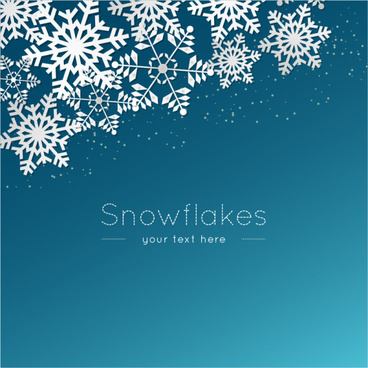 paper cut snowflake vector background