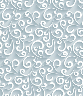 paper floral seamless pattern vector