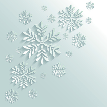 paper floral white christmas backgrounds vector