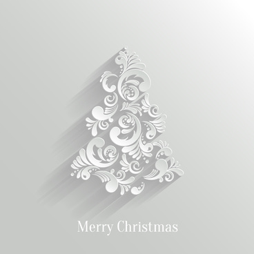 paper floral white christmas backgrounds vector 538858