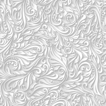 paper floral white seamless pattern vector