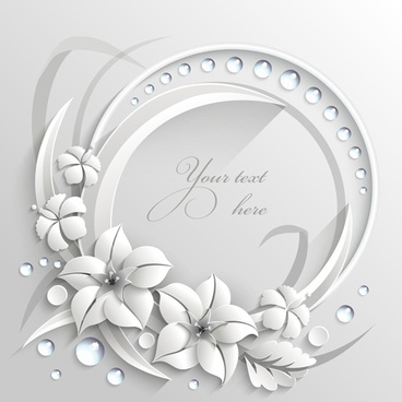 paper flower background vector