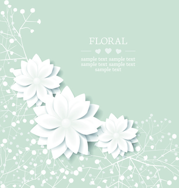 paper flowers background vector