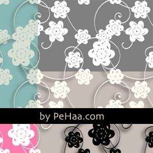 Paper flowers pattern