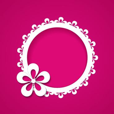 paper flowers vector graphics
