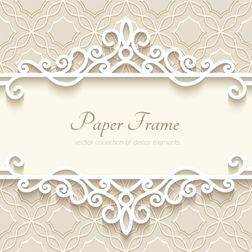 paper frame with beige background vector