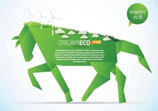 Paper Horse Clip Art
