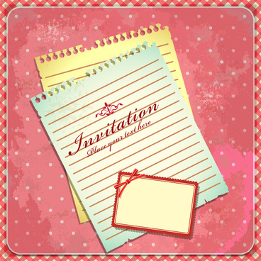 Invitation card border design free vector download 17737 free paper invitation card stopboris Image collections