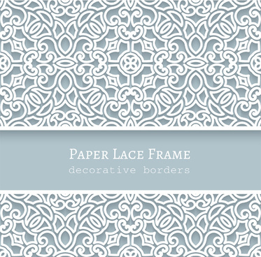 paper lace frame vector background