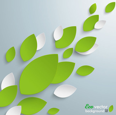 paper leaves eco background vector