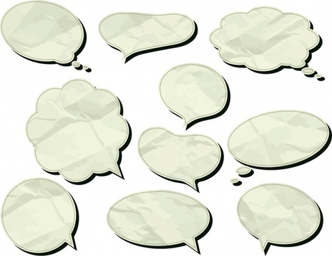 speech bubbles templates classic flat shapes