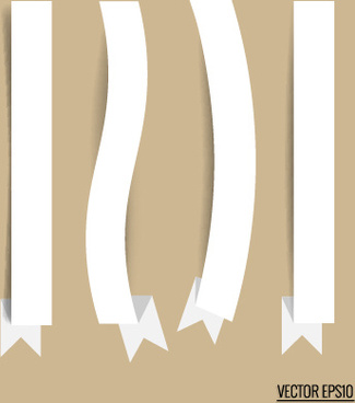 paper ribbon design vectors
