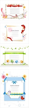 paper ribbon theme vector