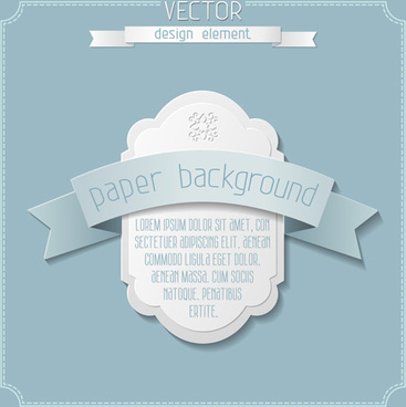 paper ribbon with labels background vector