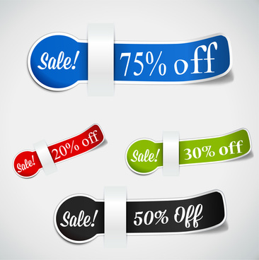 paper sale off tags