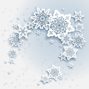 paper snowflake christmas whtie background vector