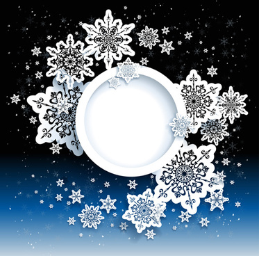 paper snowflakes vector backgrounds