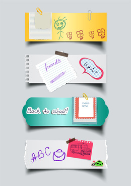 paper sticker note