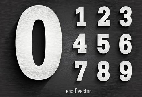 paper textures numbers vector