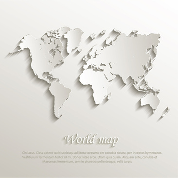 paper world map creative design vector