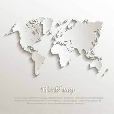 paper world map creative design vector