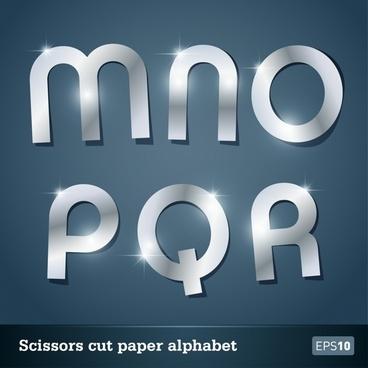 papercut vector alphabet wordart