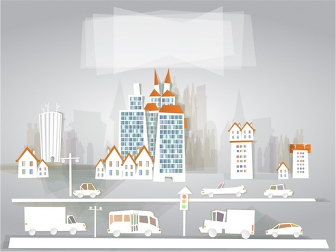 papercut vector cartoon logo