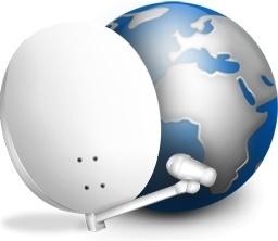 Parabol antenal and globe earth