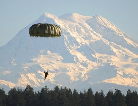 parachute paratrooper parachutist