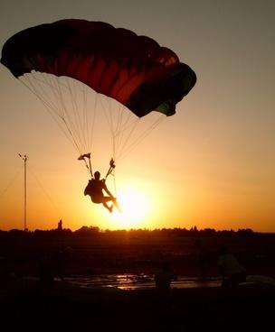 parachute sky go to
