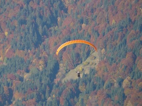 paraglider flying flight