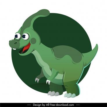parasaurolophus dinosaur icon cute cartoon sketch