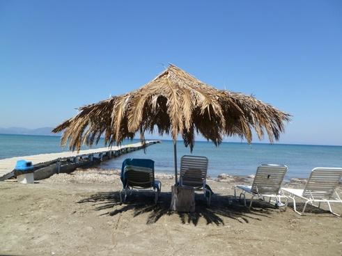 parasol beach chair beach