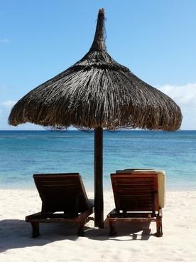 parasol sun loungers mauritius