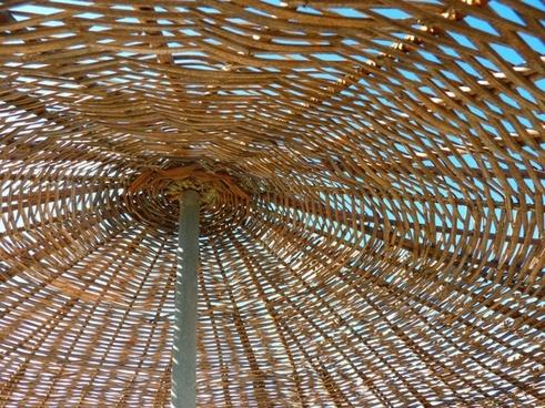 parasol woven sun protection