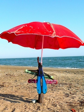 parasols beach beach holiday
