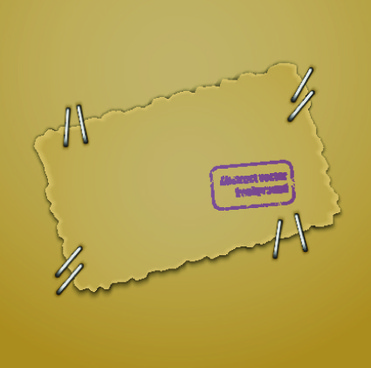 parchment background with stamp vector