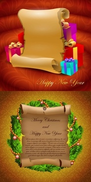 parchment greeting cards and gifts vector