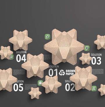 parchment polygonal with infographics vector