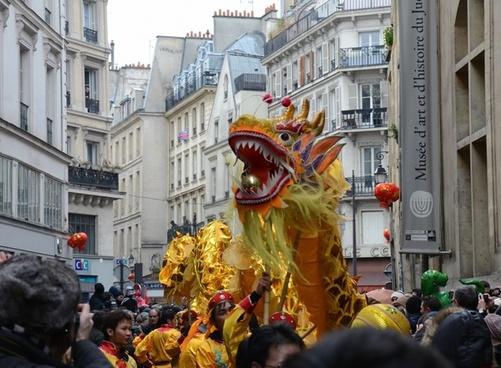 paris france chinese new year