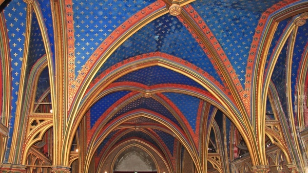paris saint chapelle blue ceiling