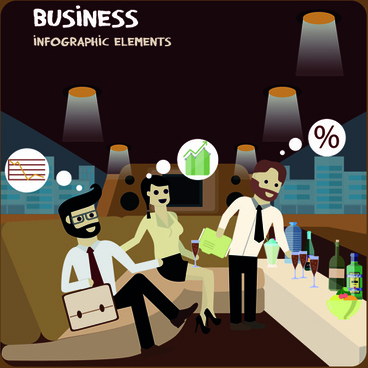 parlor business infographics vector