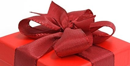 partial picture of the red gift box